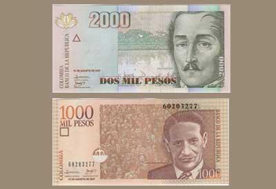 Monnaie Colombie