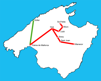 Train Majorque